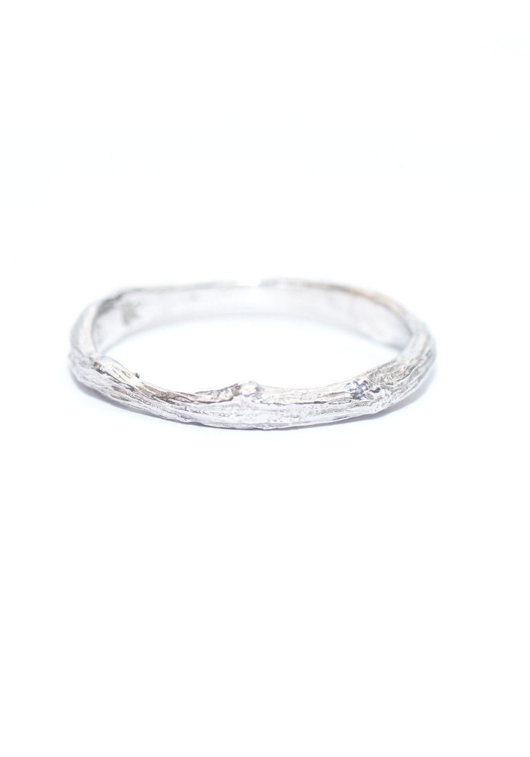 K. Brunini Small White Gold Twig Ring