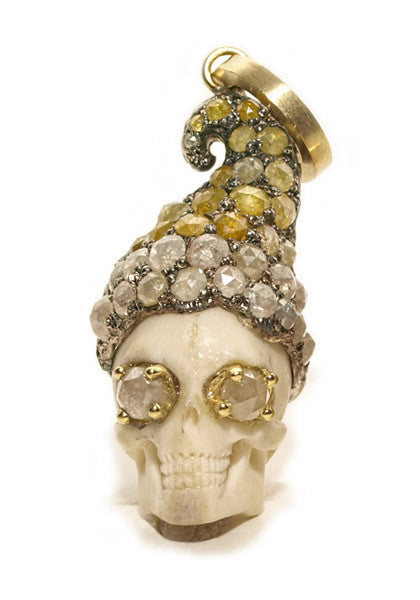 Sylva & Cie Romeo Skull With Diamonds