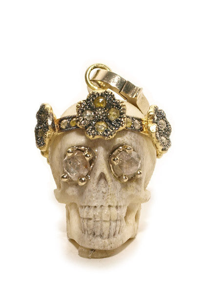 Sylva & Cie Juliet Skull With Diamonds
