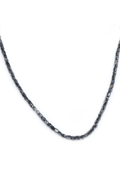 William Levine Black Diamond Bead Necklace