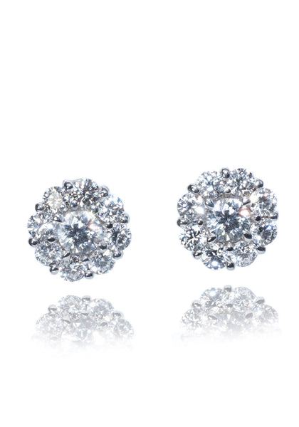 Rahaminov Diamond Cluster Studs