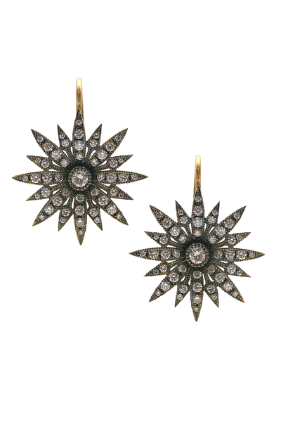 Sylva & Cie Diamond Starburst Earrings