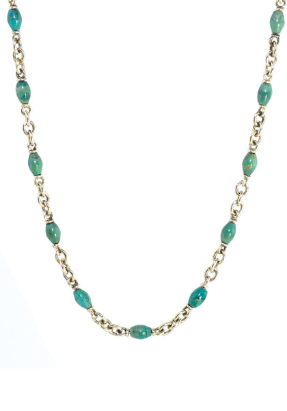 Sylva & Cie Green Turquoise Necklace