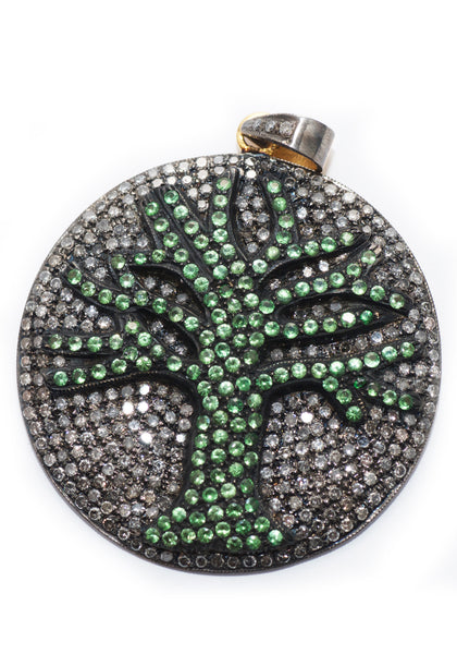 Gemco Tree of Life  2.93ctw Pave Diamond Pendant