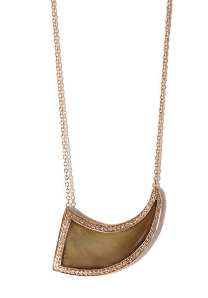Jacquie Aiche Diamond Bear Claw Necklace