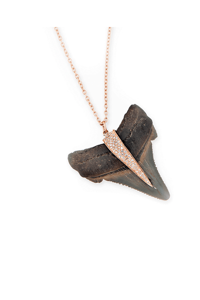 Jacquie Aiche Diamond Shark Tooth Necklace