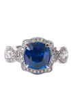 Katharine James Bella's Love Cushion Sapphire Ring