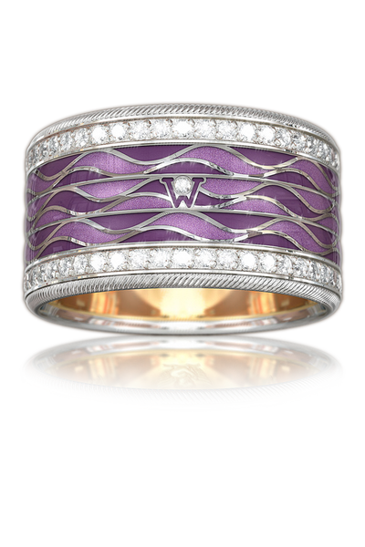 "Wellendorff Diamond ""Magic Purple"" Ring"