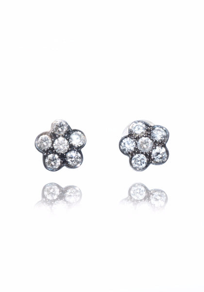 Power Stud Diamond Earrings
