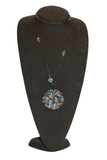 "A & Furst Bouquet - 36"" Long Blackened Blue Topaz & Sapphire Necklace"
