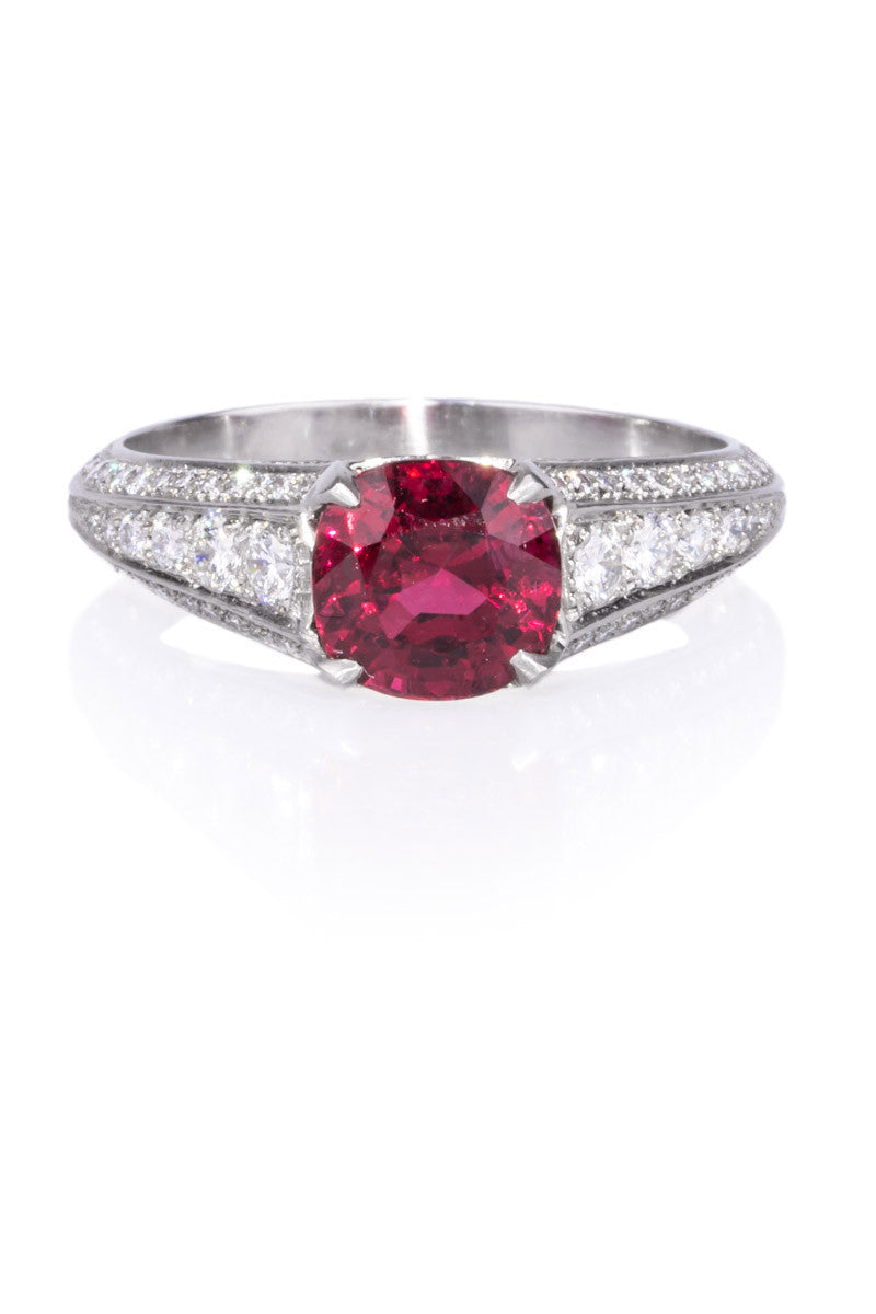 Sebastien Barier Spinel & Diamond Ring