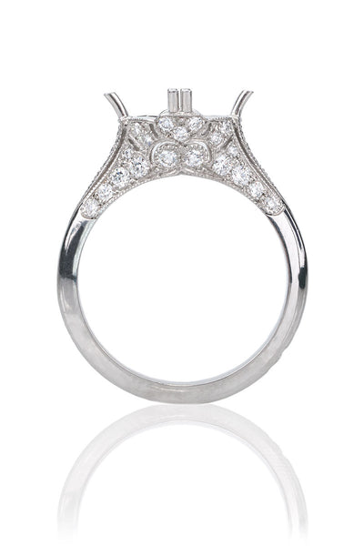 Sebastien Barier Diamond Semi-Mount Ring