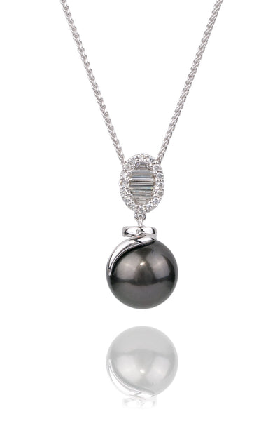 Tahitian Pearl & Diamond Necklace