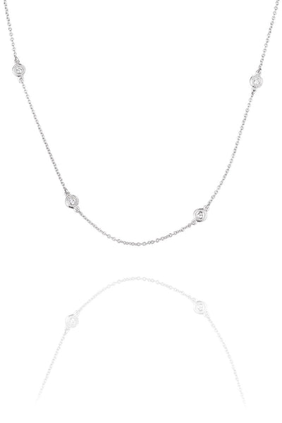 .18ctw 6 Diamond Chain Necklace