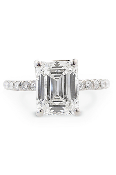 1.73 Emerald Cut Diamond Ring