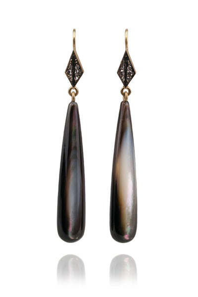 Sylva & Cie Diamond & Mother of Pearl Earrings
