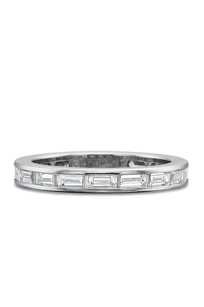 Precision Set Platinum Baguette Diamond Eternity Band