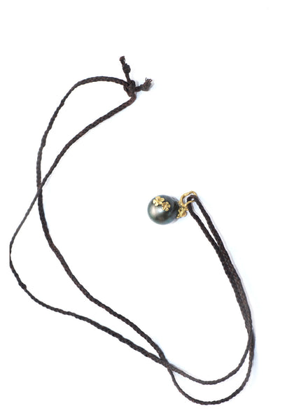 Vibe's Tahitian Pearl & Small Snail Necklace