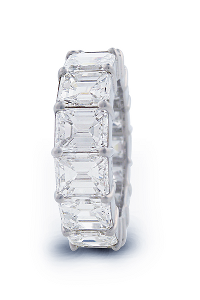Louis Glick Emerald Cut Diamond Eternity Band