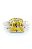 Louis Glick Emerald Cut Diamond Ring