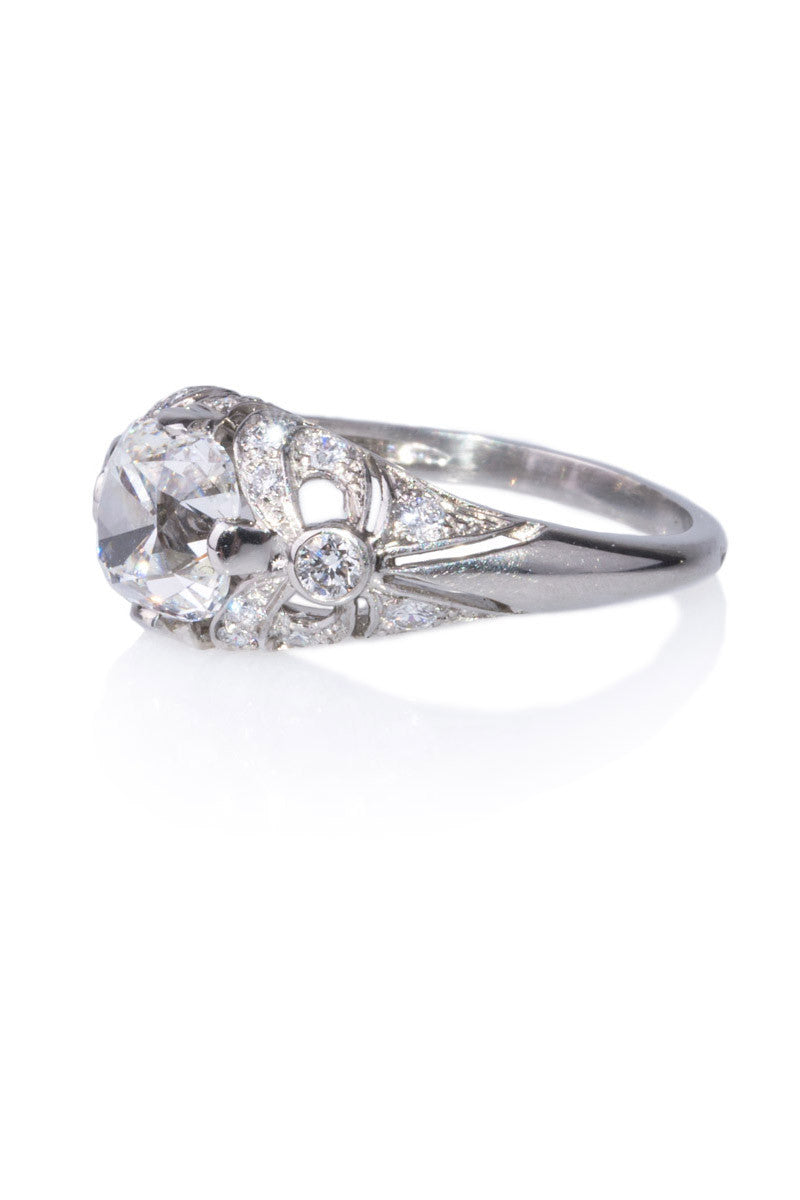 Sebastien Barier Cusion Cut Diamond Ring