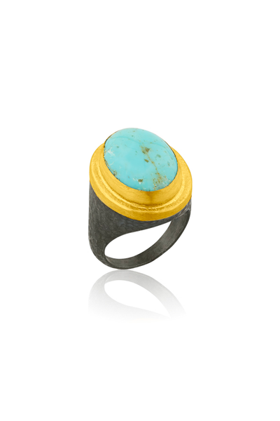 7.55ct Oval Turquoise Ring