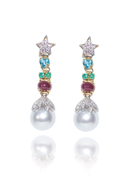Santagostino Day & Night Pearl Earrings