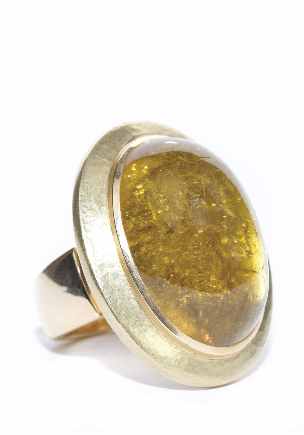 Leo DeVroomen 18KY Gold Tourmaline Cocktail Ring