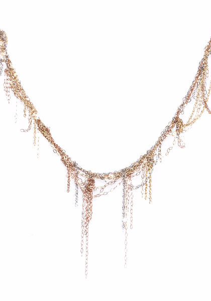 Martin Bernstein Gold Fringe Necklace