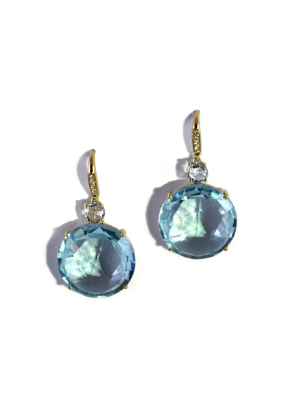 A & Furst Lilies - Blue Topaz and Diamond Earrings
