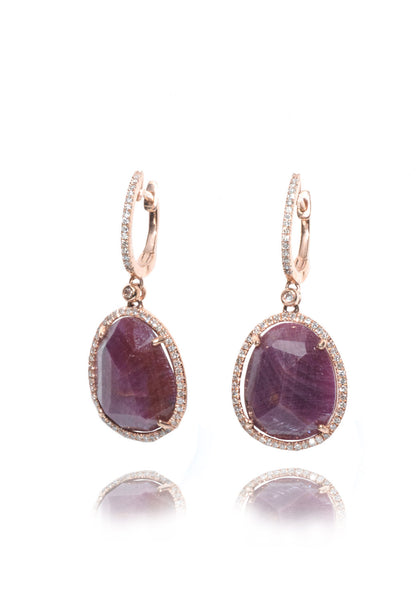 Dilamani Designs Ruby & Diamond Dangles