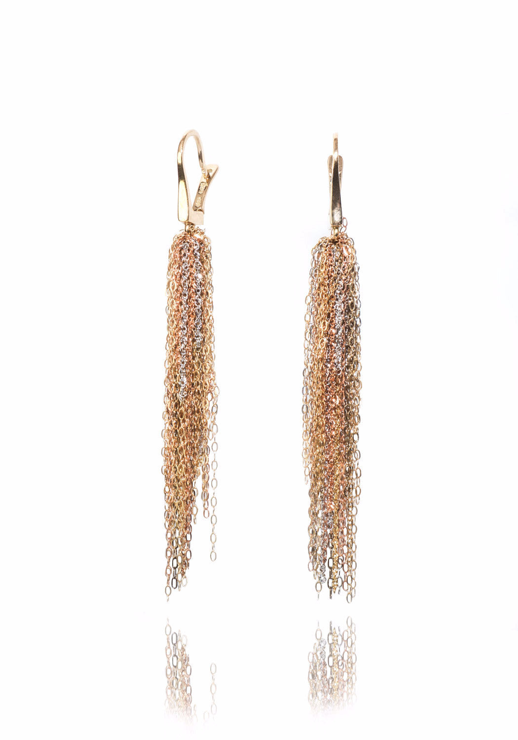 Martin Bernstein Yellow Gold Dangle Earrings