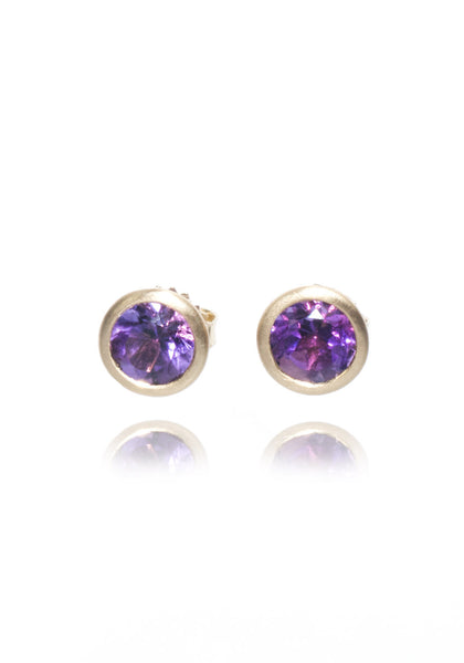 Kimberly Collins Amethyst Stud Earrings