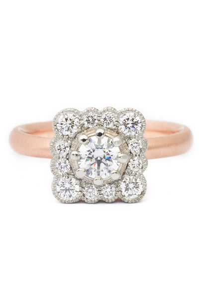 Anne Sportun Lauren Scalloped Diamond Halo Ring