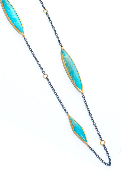 Lika Behar Kara Kingman Turquoise Necklace