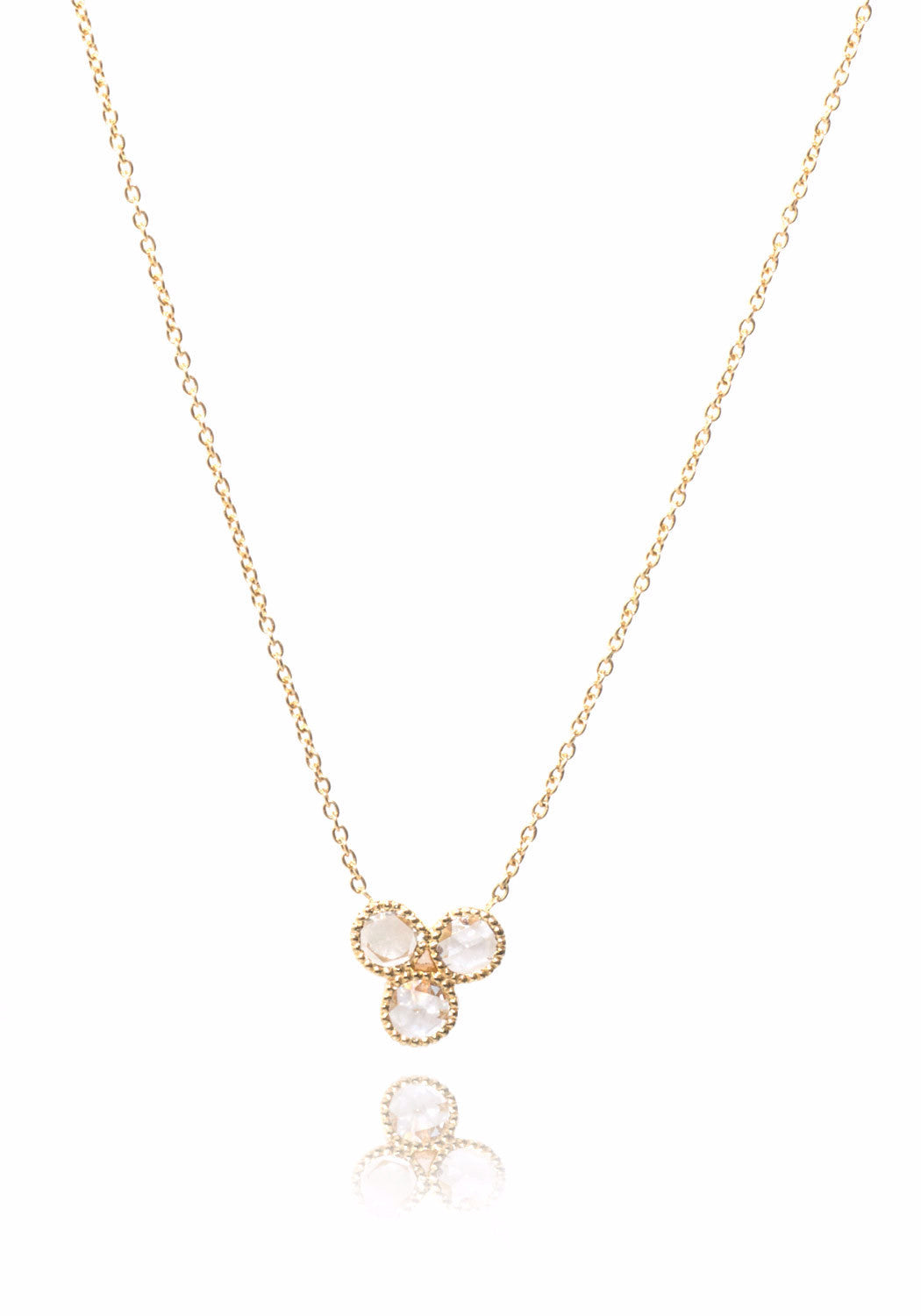 Sethi Couture Three Rose Cut Diamond Necklace