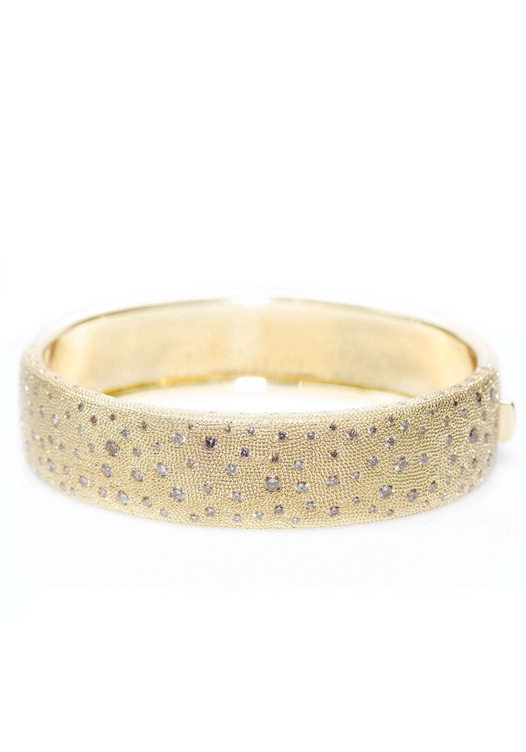 "Garavelli ""Dune"" Gold 3.08ctw Diamond Bangle"