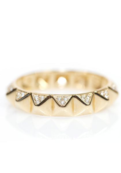 Sydney Evan Yellow Gold Pyramid Diamond Ring