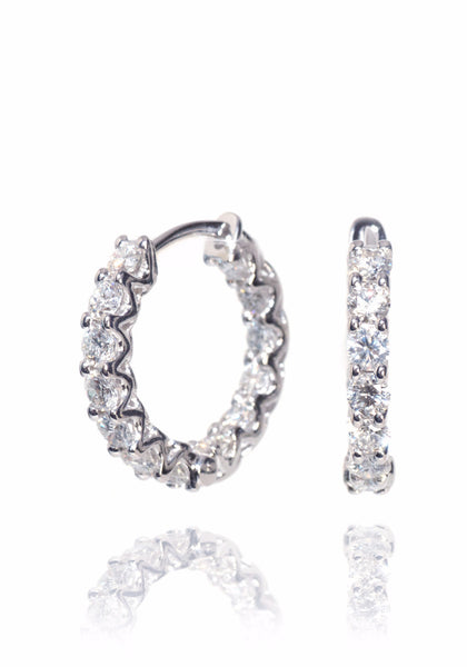 A. Link Diamond Hoop Earrings