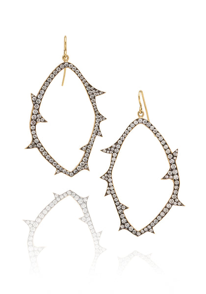 Sylva & Cie Open Faced Diamond Earrings