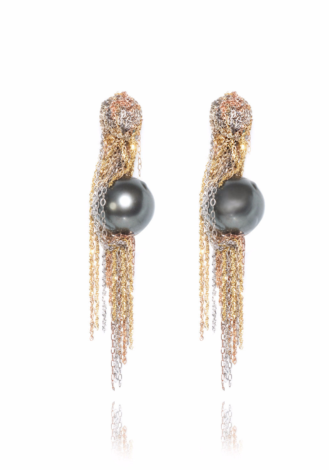 Martin Bernstein Large Tahitian Pearl Earrings