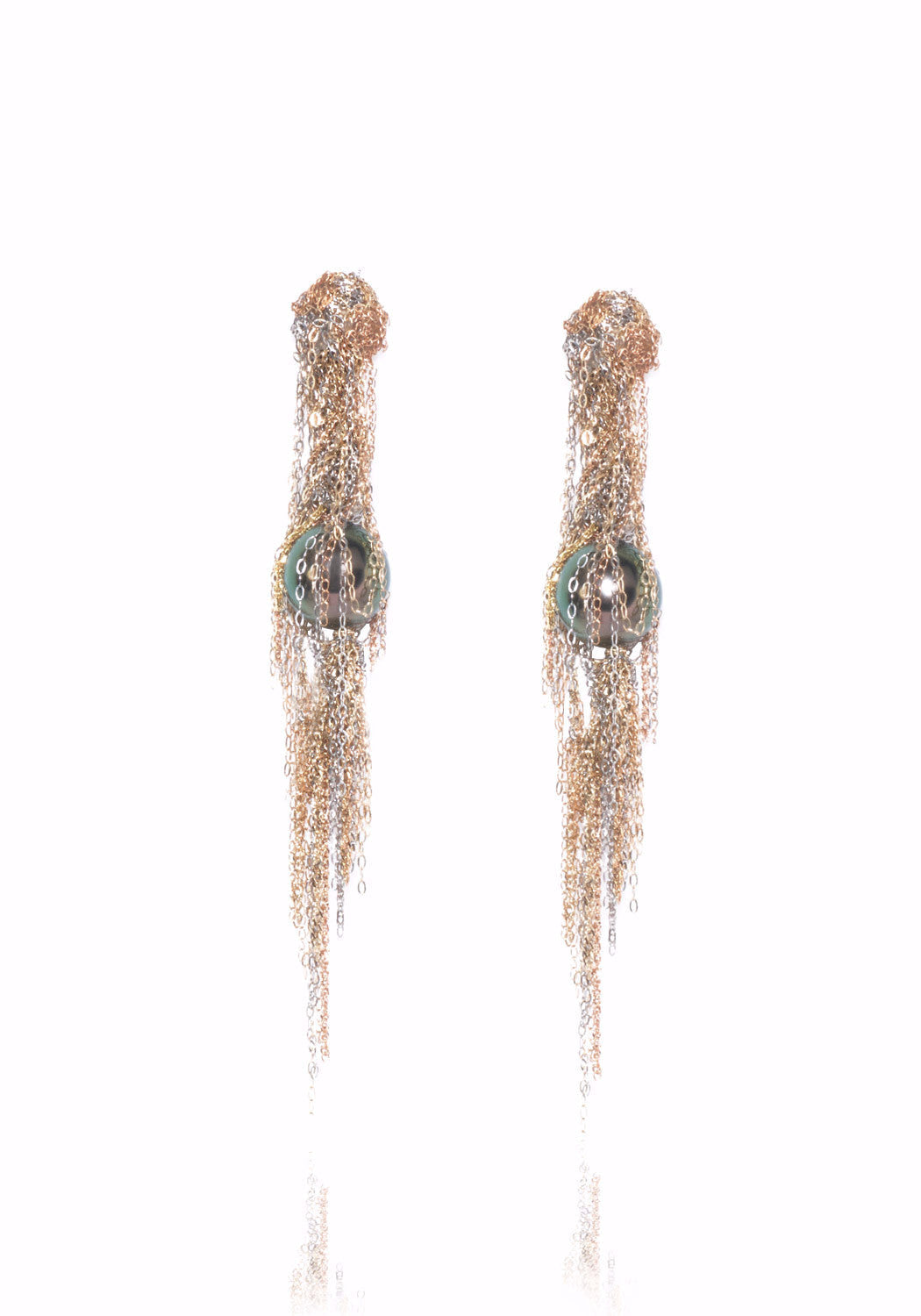 Martin Bernstein Small Tahitian Pearl Earrings