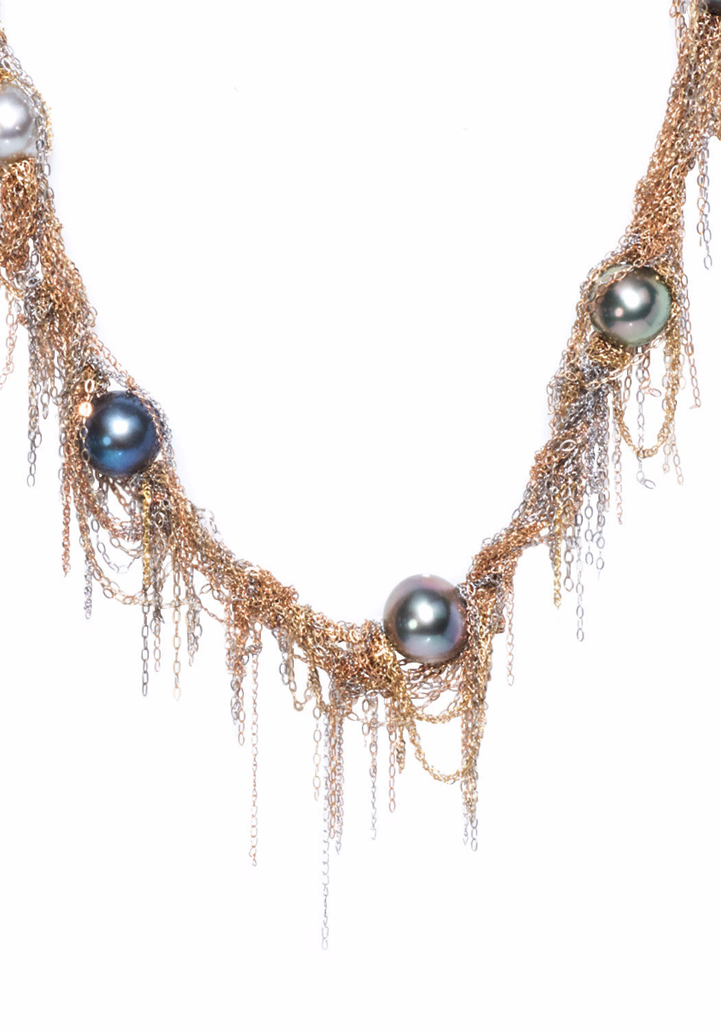Martin Bernstein Small Tahitian Pearl Fringe Necklace