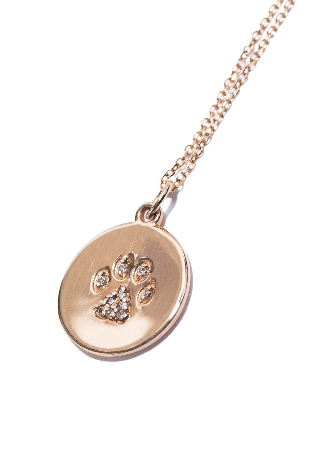 KC Designs Diamond Paw Print Necklace
