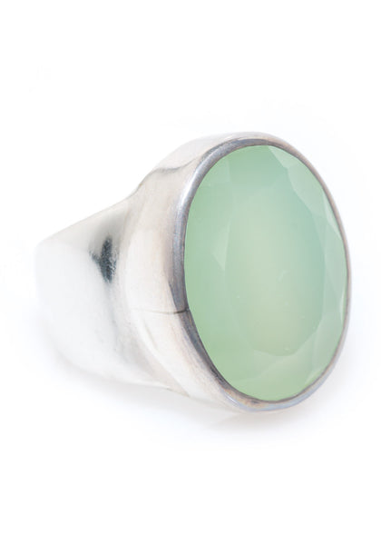 Janice Girardi Green Chalcedony Cocktail Ring