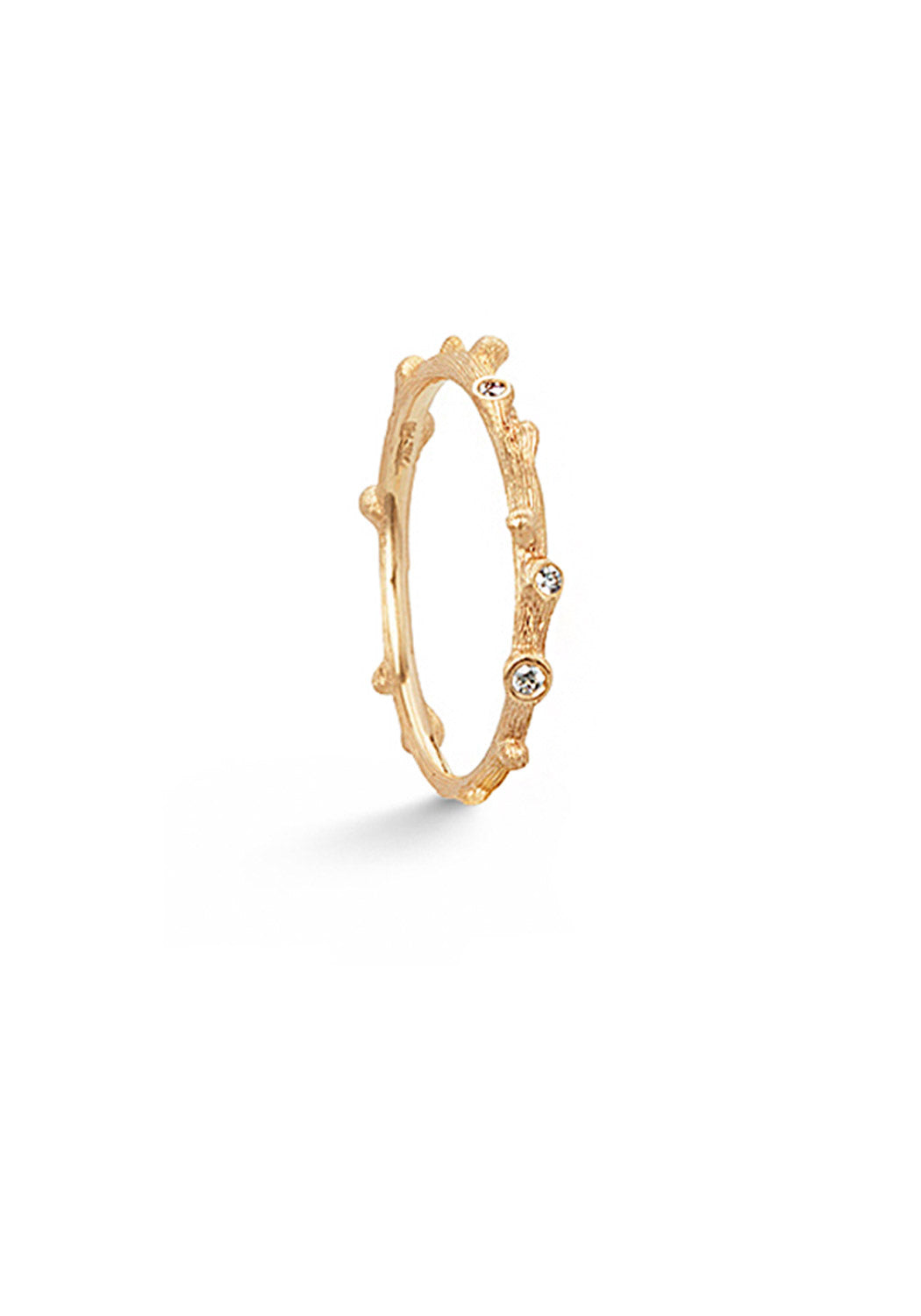 OLE LYNGGAARD Nature Yellow Gold & Diamond Ring