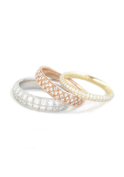 Anne Sportun Triple Row 18KRG Diamond Half Band