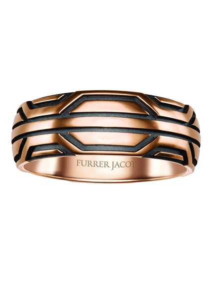 Furrer Jacot Rose Gold Geometric Band