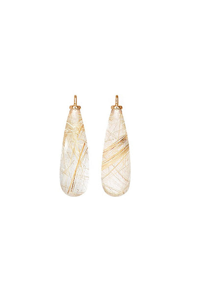 OLE LYNGGAARD Rutile Quartz Drops for Earrings