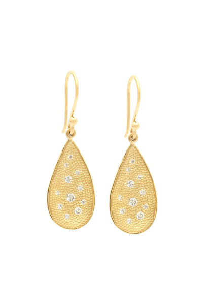 Anne Sportun Organic Teardrop Stardust Hook Earrings